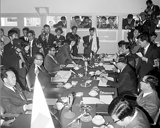 <January 24th, 1975, the 7th North-South Red Cross Conference>Photo by NAK