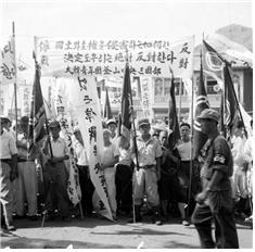 <1951, opposing ceasefire citizen rally day> Photo by NAK